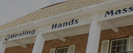 exterior sign for healing hands massage location in Media, PA