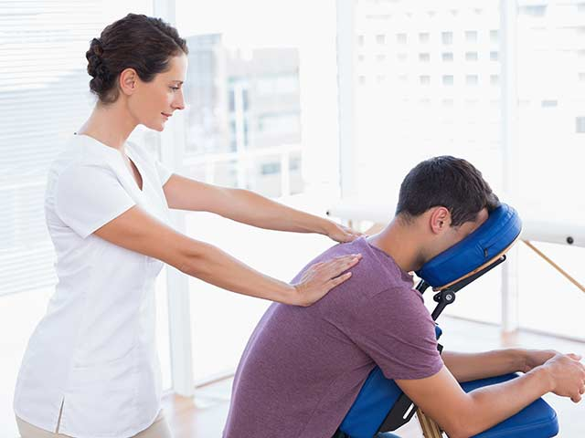 healing hands on-site chair massage for workplaces in chester county pa