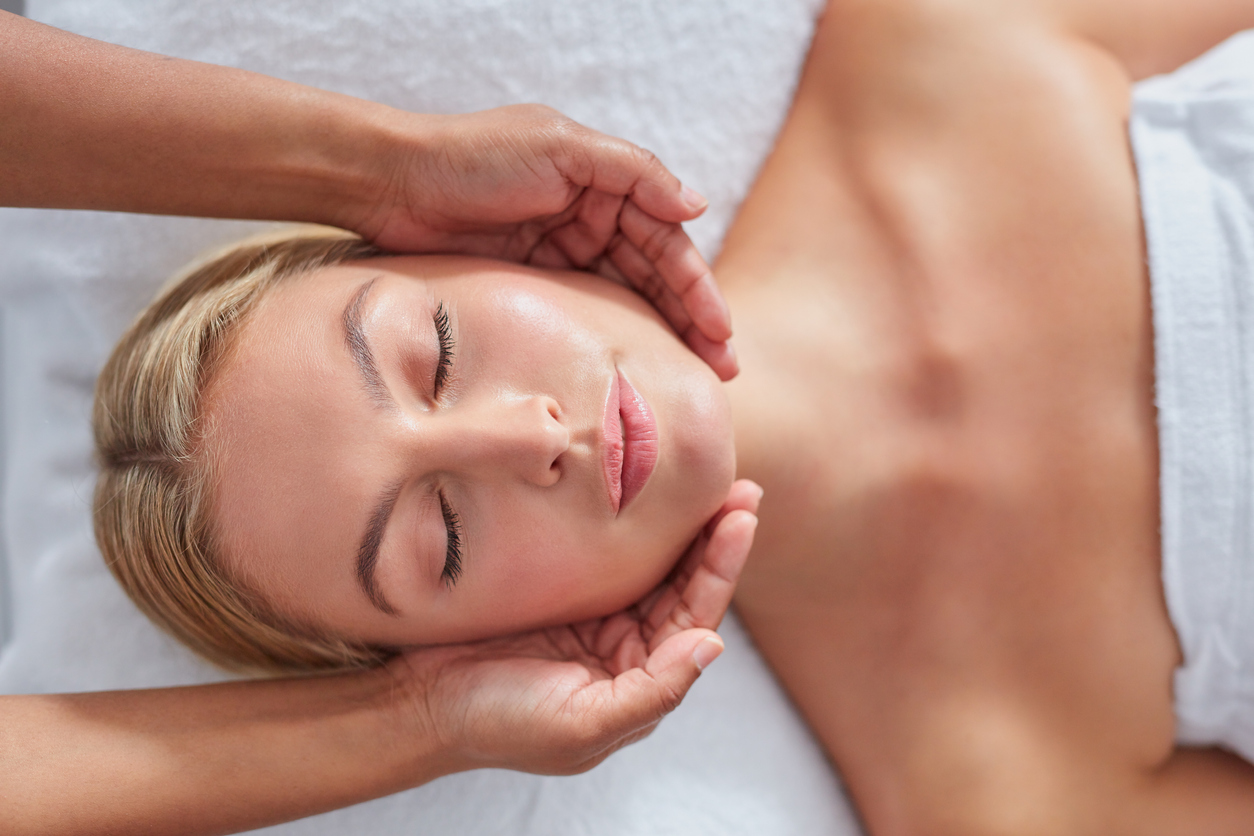 woman receiving massage therapy in chester county pa